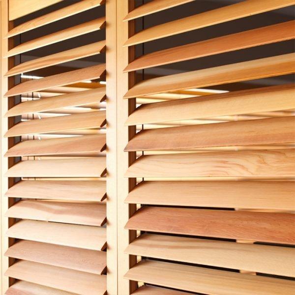 Cedar Plantation shutters